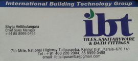 Ibt Tiles,sanitaryware &  Bath Fittings