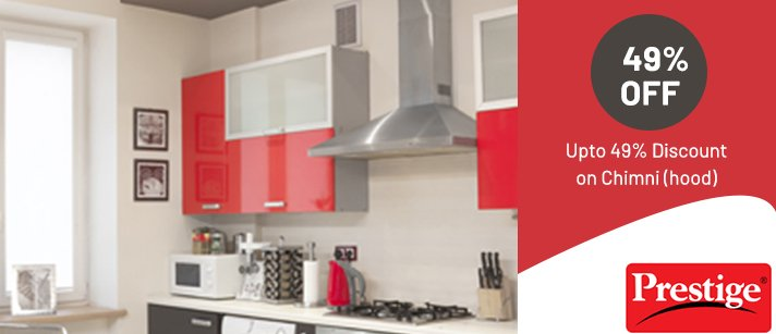 Travancore Electric Appliances & Prestige Smart Kitchen - 49% Off On Chimney Hood - Prestige Xclusive