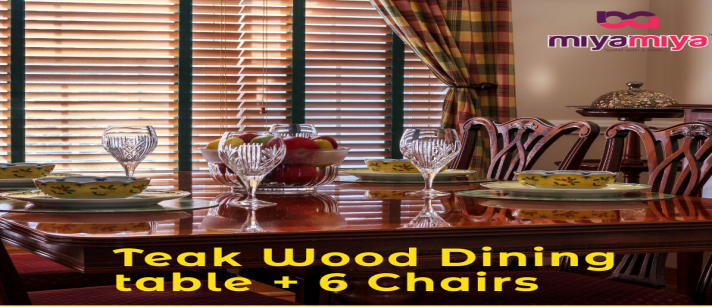 Lucas India Industries - Teak Wood Dining Table + 6 Chairs