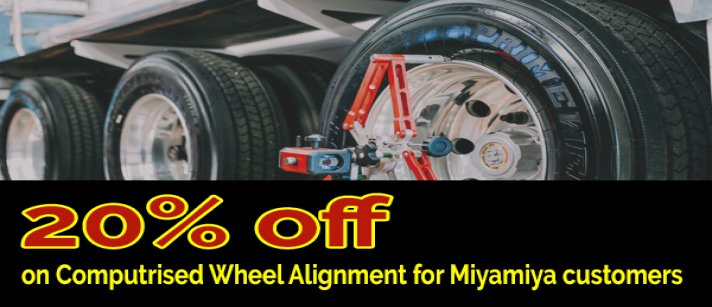 Global Tyres Vyttila - Offer On Computerised Wheel Alignment.